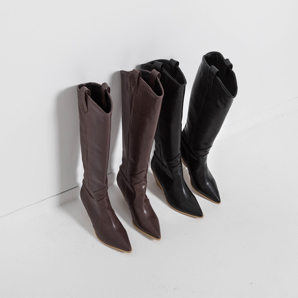(SH-2861) Stiletto Western Long Boots