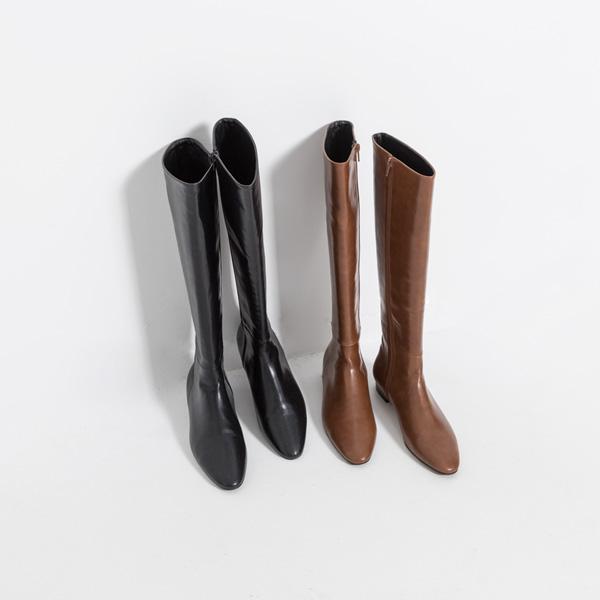 (SH-2872) Flat simple Long Boots