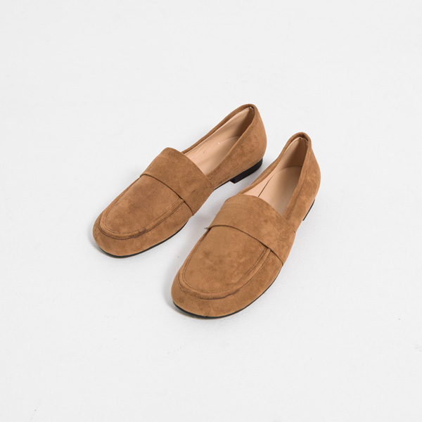 (SH-2886) Rounded Suede Loafers