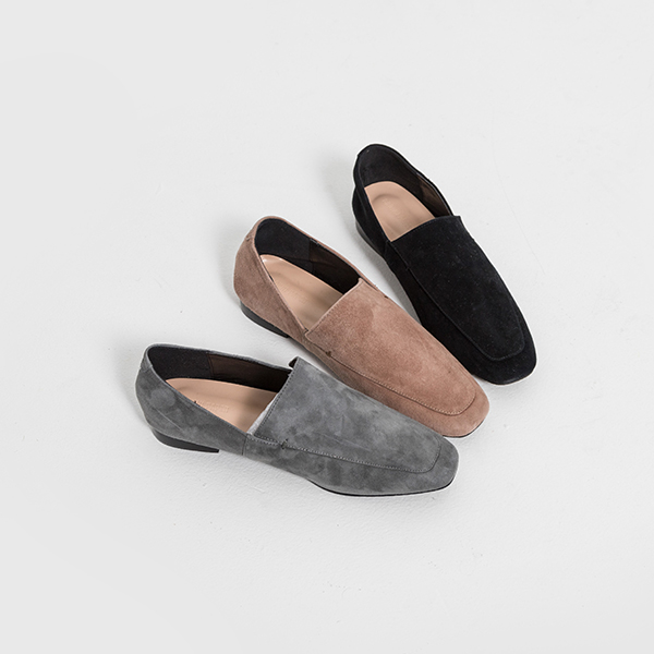 SH-2885 Real Lambskin Suede Loafers