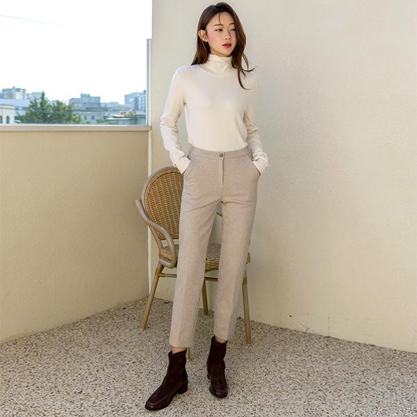 (PT-3943) Soft Touch Banding Slim Pants
