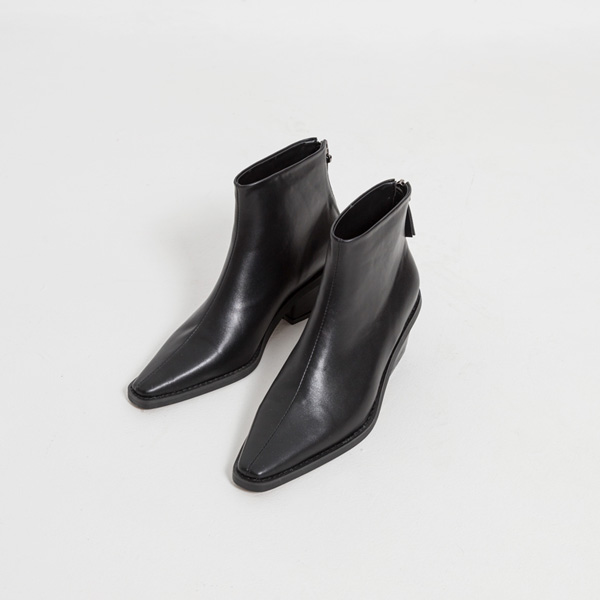 (SH-2891) chic unique heel ankle boots
