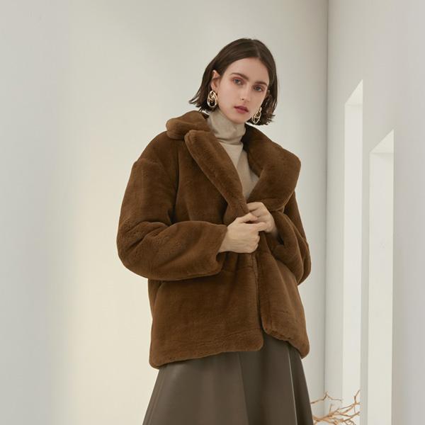 (JK-2061) overfit artificial Fur Jacket