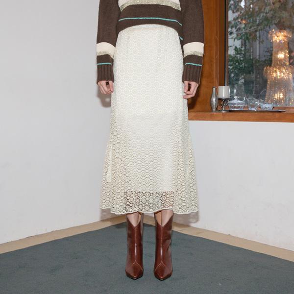 (SK-3696) feminine lace Long Skirt