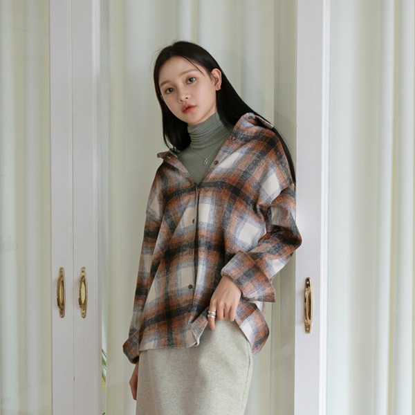 (BL-3445) Fade Check Blouse
