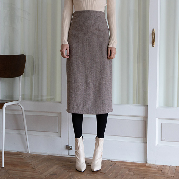(SK-3656) minimal Check Patterns Skirt