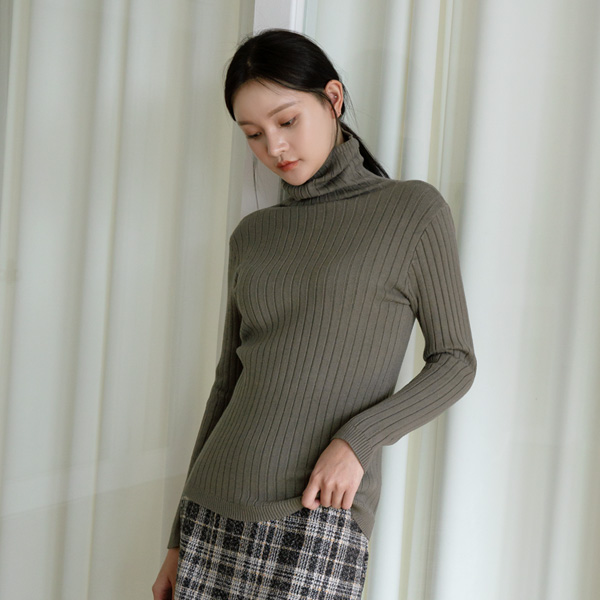 (T-5072) Basic Corrugated Paula Knit