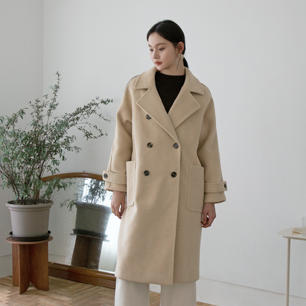 (CT-1259) Legal Run Double Button Coat