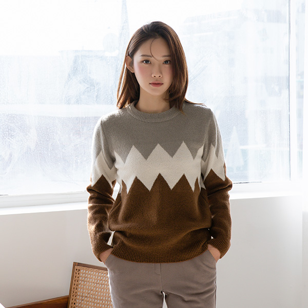 (NT-5127) Zig Zag Color color combination Knit