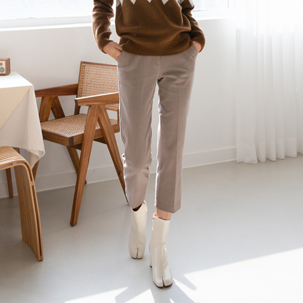 (PT-4002) napping Straight Fit Cotton Pants