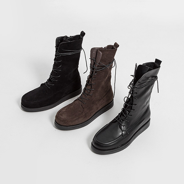 (SH-2900) Lace Up Middle Boots