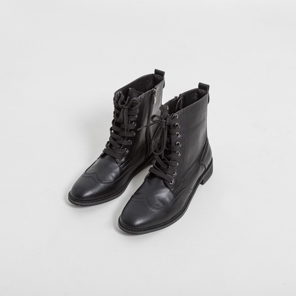 (SH-2901) Lace Up Walker Boots