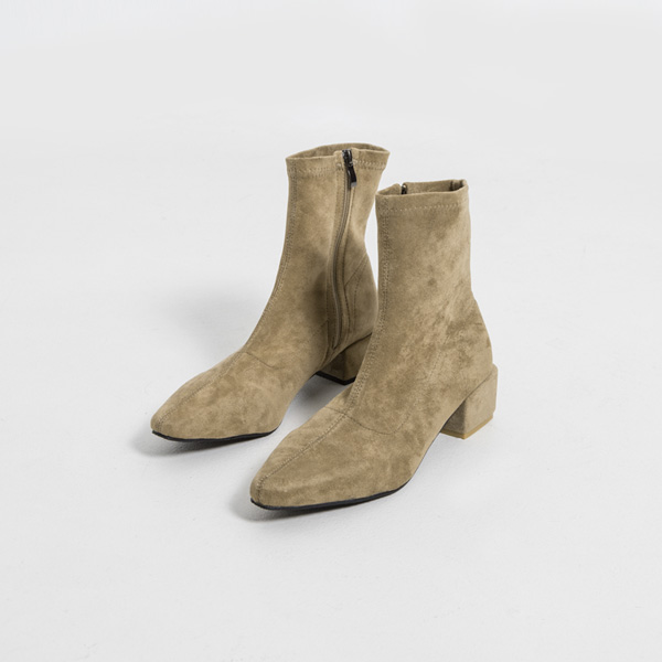(SH-2880) Modern Suede Ankle Boots