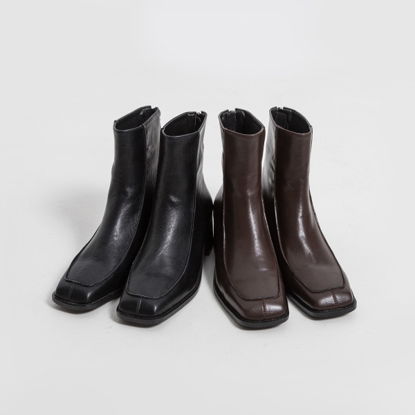 (SH-2904) Mesh Square Toe Ankle Boots