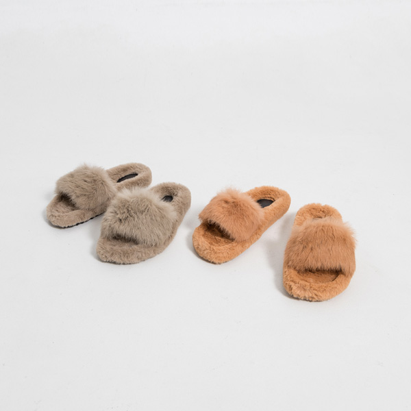 (SH-2873) Eco Fur Slippers