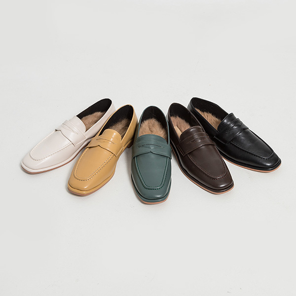 (SH-2909) Fur Classic Loafers
