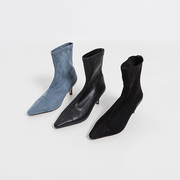 (SH-2910) Span Middle heel Ankle Boots