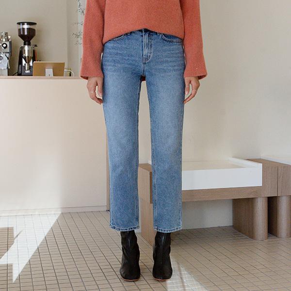 (PT-4044) Washing Straight Denim Pants