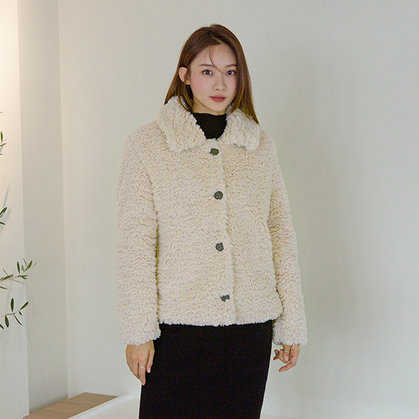 (JK-2153) Teddy Bear Shearing Jacket