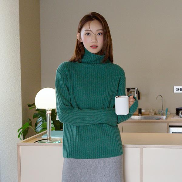 (T-5189) Wool100 Turtleneck Knit