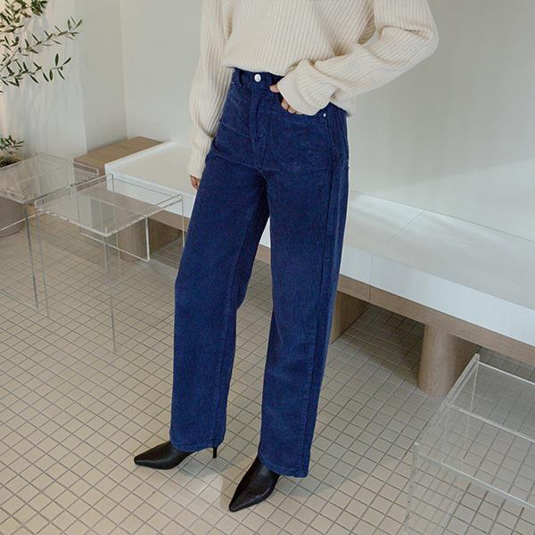 (PT-4040) Color Wide Corduroy Pants