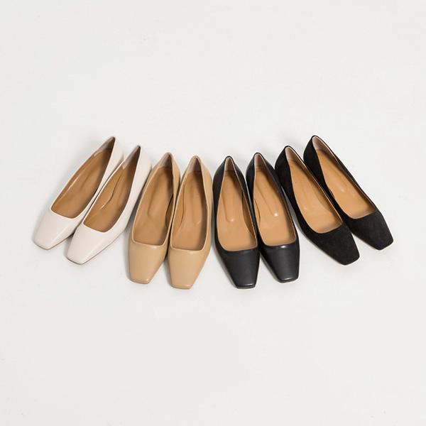 (SH-2912) Classic Square Flat Heel