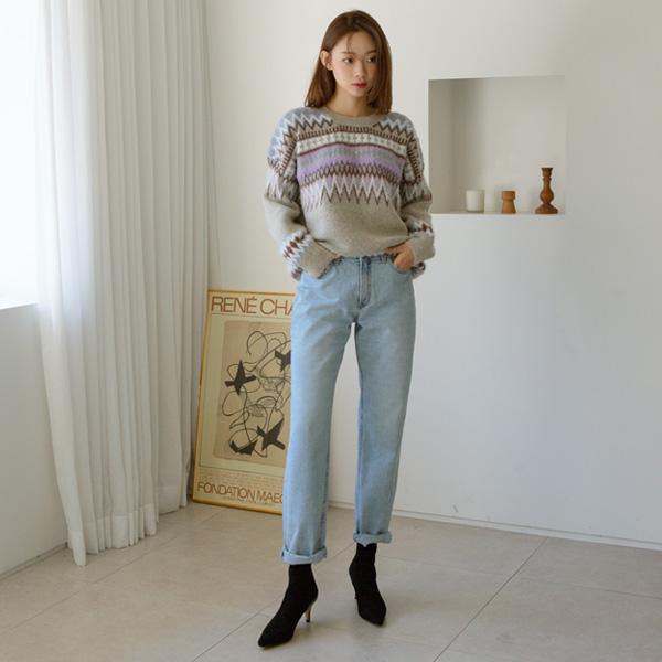 (PT-4042) Vintage Straight Fit Denim Pants