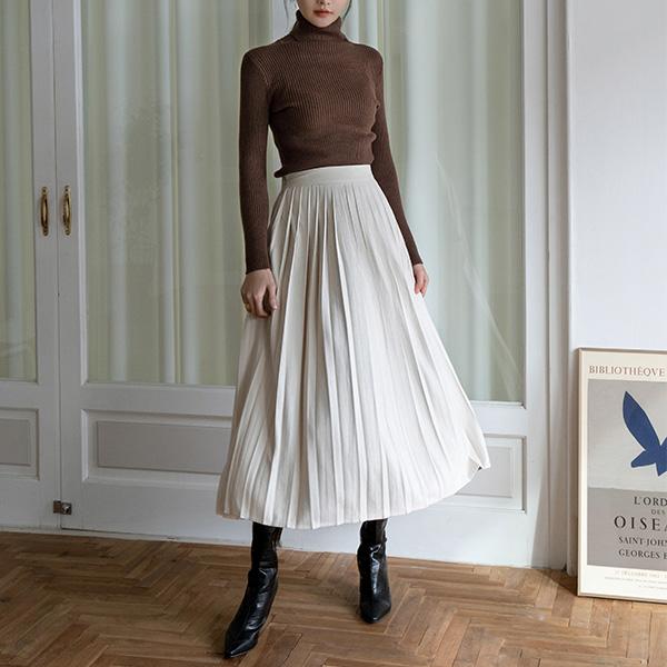 (SK-3672) Modern Pleats Bag Banding Skirt
